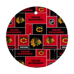 Chicago Blackhawks Nhl Block Fleece Fabric Ornament (Round)