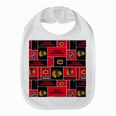 Chicago Blackhawks Nhl Block Fleece Fabric Bib