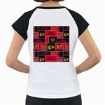 Chicago Blackhawks Nhl Block Fleece Fabric Women s Cap Sleeve T Back