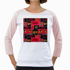 Chicago Blackhawks Nhl Block Fleece Fabric Girly Raglans