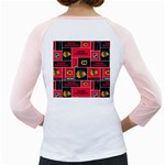 Chicago Blackhawks Nhl Block Fleece Fabric Girly Raglans Back