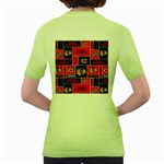 Chicago Blackhawks Nhl Block Fleece Fabric Women s Green T-Shirt Back