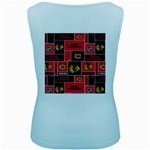 Chicago Blackhawks Nhl Block Fleece Fabric Women s Baby Blue Tank Top Back