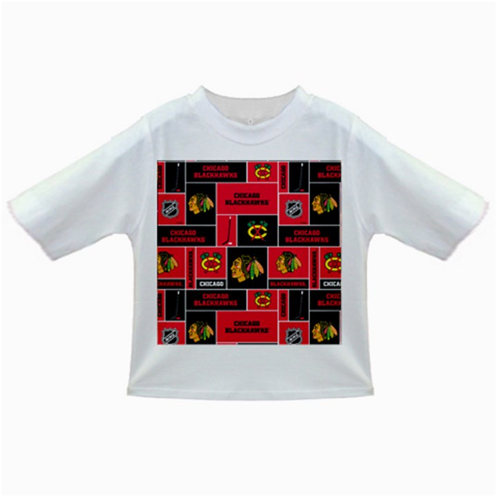 Chicago Blackhawks Nhl Block Fleece Fabric Infant/Toddler T-Shirts