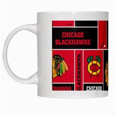 Chicago Blackhawks Nhl Block Fleece Fabric White Mugs
