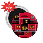 Chicago Blackhawks Nhl Block Fleece Fabric 2.25  Magnets (10 pack)  Front