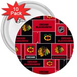 Chicago Blackhawks Nhl Block Fleece Fabric 3  Buttons (10 pack)  Front
