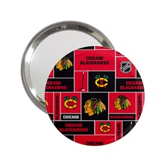 Chicago Blackhawks Nhl Block Fleece Fabric 2.25  Handbag Mirrors