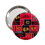 Chicago Blackhawks Nhl Block Fleece Fabric 2.25  Handbag Mirrors Front