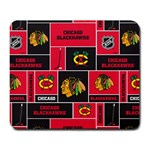 Chicago Blackhawks Nhl Block Fleece Fabric Large Mousepads Front