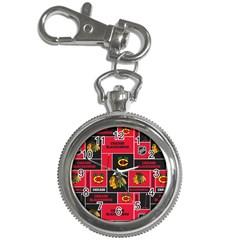 Chicago Blackhawks Nhl Block Fleece Fabric Key Chain Watches