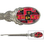 Chicago Blackhawks Nhl Block Fleece Fabric Letter Openers Front