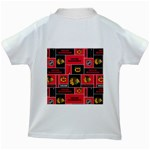 Chicago Blackhawks Nhl Block Fleece Fabric Kids White T-Shirts Back