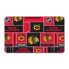 Chicago Blackhawks Nhl Block Fleece Fabric Magnet (Rectangular)