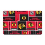 Chicago Blackhawks Nhl Block Fleece Fabric Magnet (Rectangular) Front