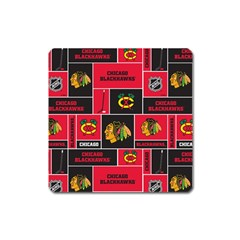 Chicago Blackhawks Nhl Block Fleece Fabric Square Magnet