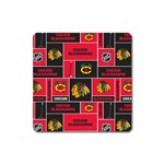 Chicago Blackhawks Nhl Block Fleece Fabric Square Magnet Front
