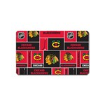 Chicago Blackhawks Nhl Block Fleece Fabric Magnet (Name Card) Front