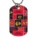 Chicago Blackhawks Nhl Block Fleece Fabric Dog Tag (One Side) Front
