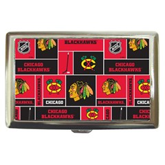 Chicago Blackhawks Nhl Block Fleece Fabric Cigarette Money Cases
