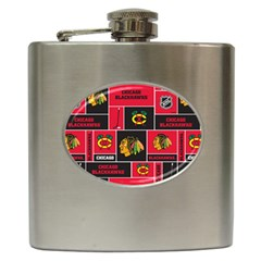 Chicago Blackhawks Nhl Block Fleece Fabric Hip Flask (6 oz)