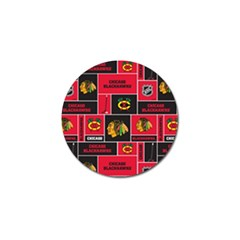 Chicago Blackhawks Nhl Block Fleece Fabric Golf Ball Marker (4 pack)