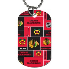 Chicago Blackhawks Nhl Block Fleece Fabric Dog Tag (Two Sides)