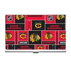 Chicago Blackhawks Nhl Block Fleece Fabric Business Card Holders