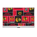 Chicago Blackhawks Nhl Block Fleece Fabric Business Card Holders Front