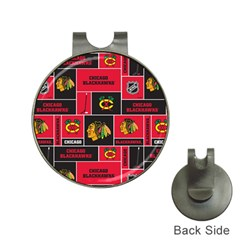 Chicago Blackhawks Nhl Block Fleece Fabric Hat Clips with Golf Markers