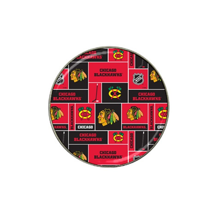 Chicago Blackhawks Nhl Block Fleece Fabric Hat Clip Ball Marker