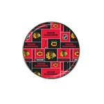 Chicago Blackhawks Nhl Block Fleece Fabric Hat Clip Ball Marker (10 pack) Front