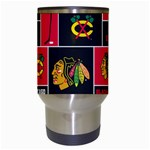Chicago Blackhawks Nhl Block Fleece Fabric Travel Mugs (White) Center