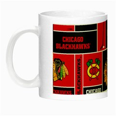 Chicago Blackhawks Nhl Block Fleece Fabric Night Luminous Mugs