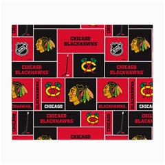 Chicago Blackhawks Nhl Block Fleece Fabric Small Glasses Cloth