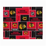 Chicago Blackhawks Nhl Block Fleece Fabric Small Glasses Cloth Front