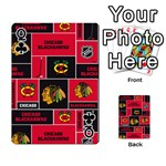 Chicago Blackhawks Nhl Block Fleece Fabric Playing Cards 54 Designs  Front - ClubQ