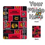 Chicago Blackhawks Nhl Block Fleece Fabric Playing Cards 54 Designs  Front - Joker1