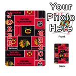 Chicago Blackhawks Nhl Block Fleece Fabric Playing Cards 54 Designs  Front - Joker2
