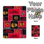 Chicago Blackhawks Nhl Block Fleece Fabric Playing Cards 54 Designs  Back