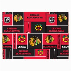 Chicago Blackhawks Nhl Block Fleece Fabric Collage Prints