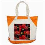 Chicago Blackhawks Nhl Block Fleece Fabric Accent Tote Bag Front