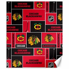 Chicago Blackhawks Nhl Block Fleece Fabric Canvas 8  x 10