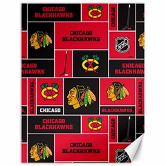 Chicago Blackhawks Nhl Block Fleece Fabric Canvas 12  x 16