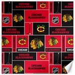 Chicago Blackhawks Nhl Block Fleece Fabric Canvas 16  x 16   16 x16 Canvas - 1