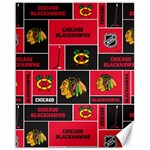 Chicago Blackhawks Nhl Block Fleece Fabric Canvas 16  x 20   20 x16 Canvas - 1