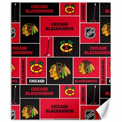 Chicago Blackhawks Nhl Block Fleece Fabric Canvas 20  x 24