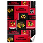 Chicago Blackhawks Nhl Block Fleece Fabric Canvas 24  x 36  36 x24 Canvas - 1