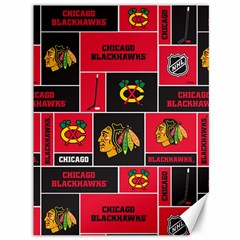 Chicago Blackhawks Nhl Block Fleece Fabric Canvas 36  x 48