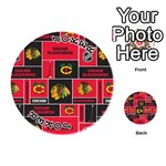 Chicago Blackhawks Nhl Block Fleece Fabric Playing Cards 54 (Round)  Front - Joker1